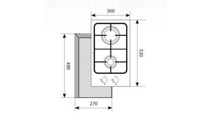 Встраиваемая варочная панель газовая LEX GVSU 320 IX Silver