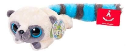 Мягкая игрушка Aurora Юху и его друзья 16-100 Юху голубой лежачий, 16 см