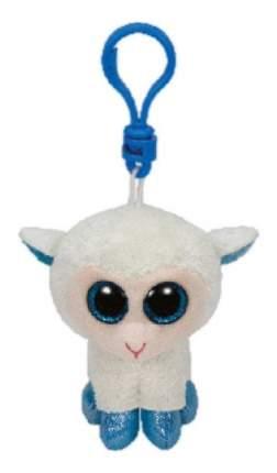 Мягкая игрушка TY Beanie Boos Брелок Овечка (белая с голубыми копытцами) 12 см