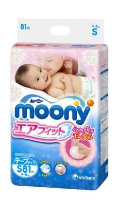 Подгузники Moony эконом S (4-8 кг), 81 шт.