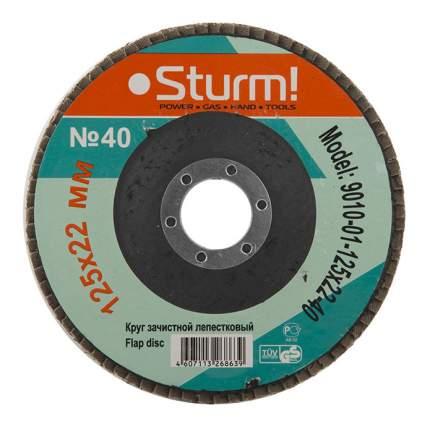 Диск лепестковый для угловых шлифмашин Sturm! 9010-01-125x22-40