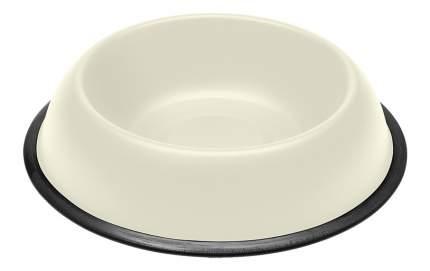 Одинарная миска для кошек Ferplast, металл, белый, 0.5 л
