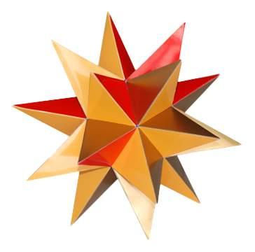 Модели для сборки No name Большой звездчатый додекаэдр №1.звездчатый многогранник