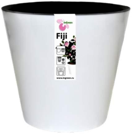 """Горшок для цветов INGREEN """"Фиджи"""" 23 см, 5 л, белый (ING1555БЛ)"""