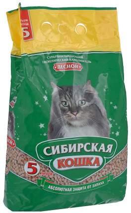 Наполнитель Сибирская кошка Лесной древесный 5 л хвоя