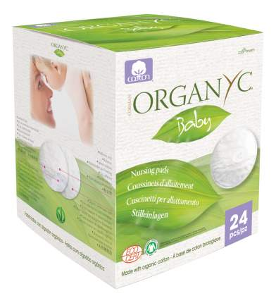 Прокладки для груди Organyc Baby для груди 24 шт.
