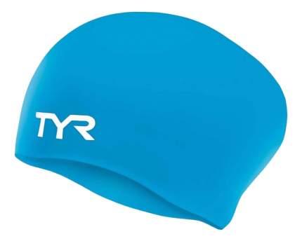 Шапочка для плавания TYR Long Hair Wrinkle-Free Silicone Cap 420 blue