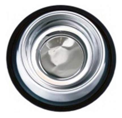 Одинарная миска для кошек Papillon, металл, резина, серебристый, 0.4 л