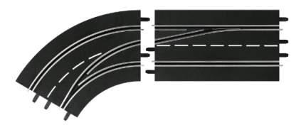 Автотрек Carrera Поворот слева со сменой полосы, с внутренней на внешнюю