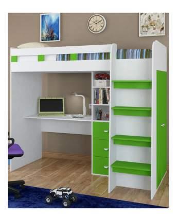 Кровать-чердак Golden Kids 5 зелено-белая