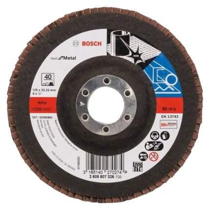Круг лепестковый Bosch 125мм K40 Best for Metal 2608607326