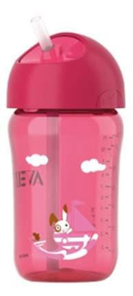 Поильник Philips Avent Чашка с трубочкой - 340 мл розовая