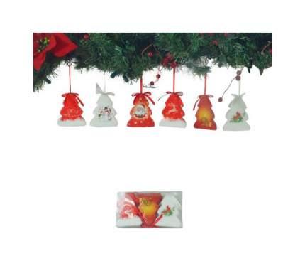 Набор елочных игрушек Winter Wings Елочки Нежный узор 7,5х9 см 3 шт
