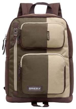 Рюкзак Grizzly RU-619-1 песочный/хаки/коричневый 14 л