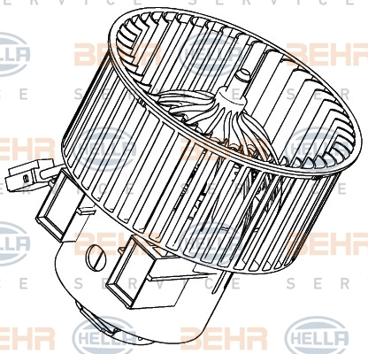 Двигатель моторчика печки Hella 8EW 351 040-461