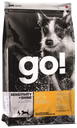 Сухой корм для собак GO! Sensitivity + Shine Duck Recipe, утка, злаки, 11.35кг