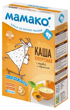 Каша молочная Мамако Кукурузная на козьем молоке с тыквой и абрикосом с 5 мес. 200 г