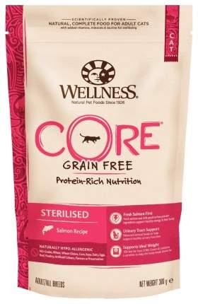 Сухой корм для кошек Wellness Sterilised, беззерновой для стерилизованных, лосось, 0,3кг