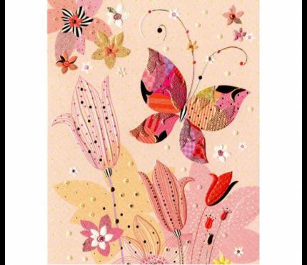 Открытка Turnowsky Цветок и бабочка MO5677