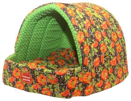 Домик для собак РОДНЫЕ МЕСТА Маки купол разноцветный
