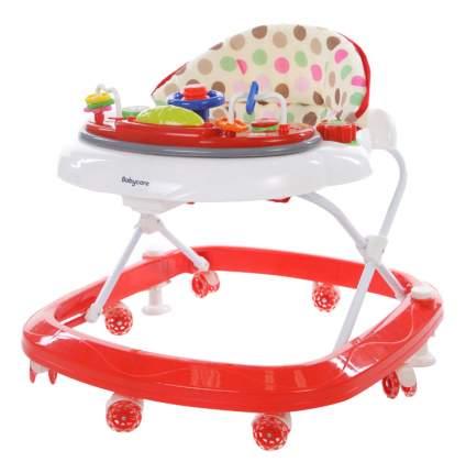 Ходунки детские Baby Care Sonic GL-6000S2 белый/красный
