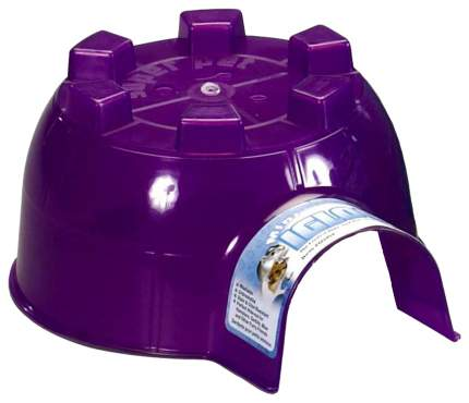 Домик для грызуна Super Pet пластик, 11.4х19.7х15.2см, цвет фиолетовый