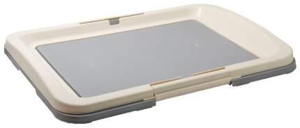 Туалет для щенков и собак PetLine с креплением под пеленки , серый, 63х48х6 см