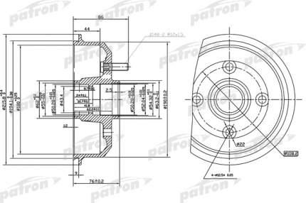 Барабан тормозной PATRON PDR1529