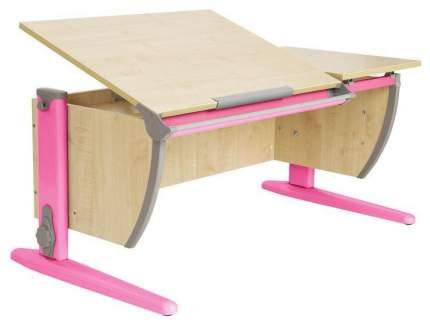 Парта Дэми СУТ 17-01Д2 с двумя задними двухъярусными приставками Клен Розовый 120 см