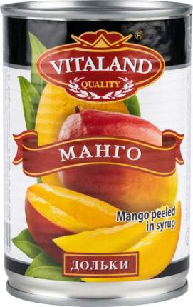 Манго очищенное в сиропе Vitaland дольки 425 г