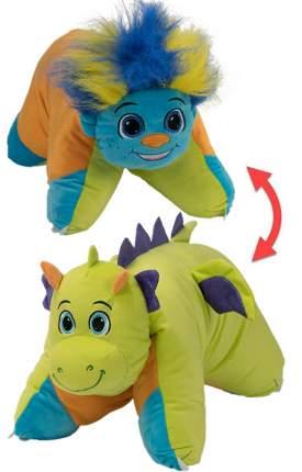 Подушка-игрушка Вывернушка 1Toy 2 в 1, Разноцветный Тролль-Салатовый Дракон Т12044