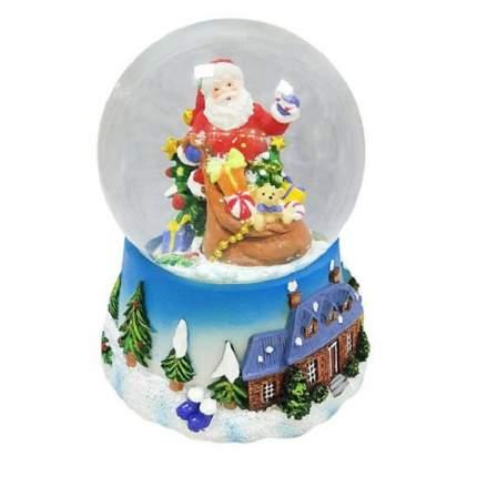 Новогодняя сказка шар декор дед мороз с подарками 100 мм мелодия новогодняя сказка 972480