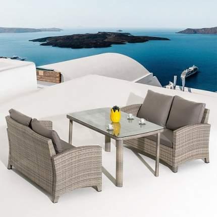 Комплект плетеной мебели Afina T51A/S58B-W85 Latte