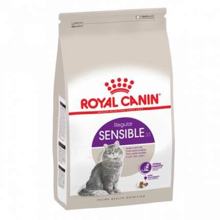 Комплект сухой корм для кошек ROYAL CANIN Sensible, 2кг + 2 пауча 85г