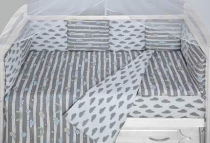 Комплект WB в кроватку 3 предмета AmaroBaby BABY BOOM (Радуга, серый)