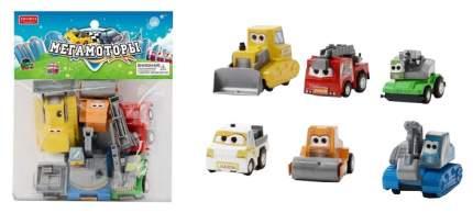 Машинки инерционные Junfa toys Мегамоторы набор 6 штук 121931-TN