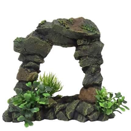 Декорация для аквариума AQUA DELLA Арка каменная, полиэфирная смола, 8х16х19 см
