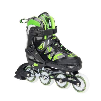Раздвижные роликовые коньки RGX Mobilis Green LED подсветка колес M 35-38