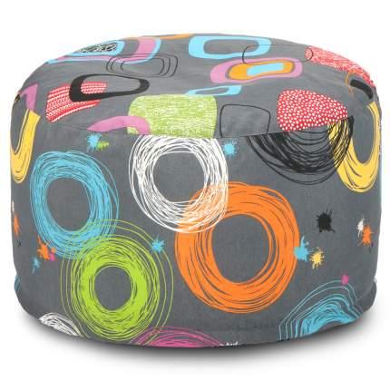 Кресло-мешок ПуффБери Кругос, размер S, жаккард, разноцветный