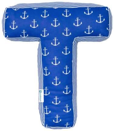 Подушка Крошка Я буква Т 35х29 см, синий