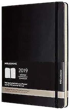 """Еженедельник датированный """"Pro Vertical"""" XL, 264 стр., черный"""