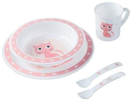 Набор обеденный пластиковый Canpol арт. 4/401, 12+, цвет розовый