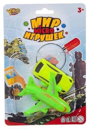 Набор пластм. машина и самолёт инерц.,CRD 20x14 см, серия Мир micro Игрушек, арт.M7342.