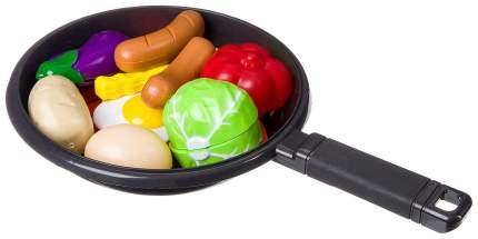 Набор продуктов со сковородкой Yako Toys Моей Малышке: овощи в нарезку, доска, нож