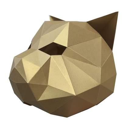 3D-конструктор Paperraz Маска «Кошка» (золотой)