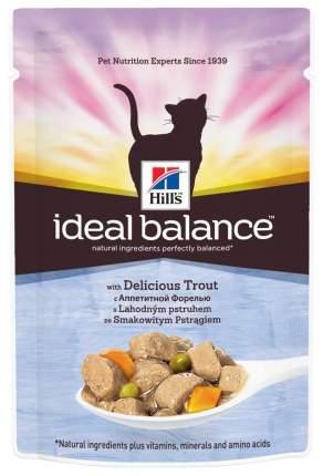 Влажный корм для кошек Hill's Ideal Balance, форель, 12шт по 85г