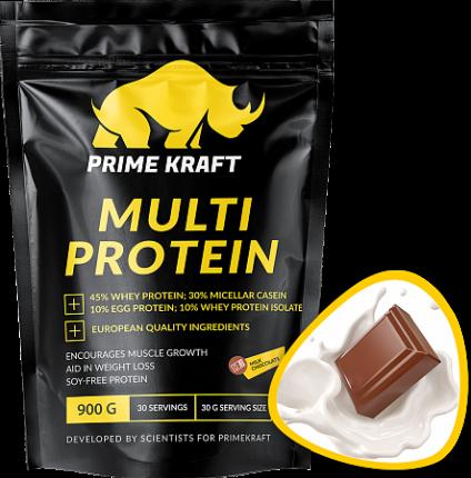 Протеин Prime Kraft Multi Protein 900 г, Молочный шоколад