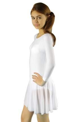 Купальник гимнастический Aliera с юбкой для девочки (Г 3.03)-128-белый