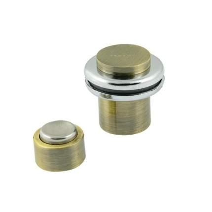 Ограничитель двери НОРА-М 804 магнитный, напольный, старая бронза