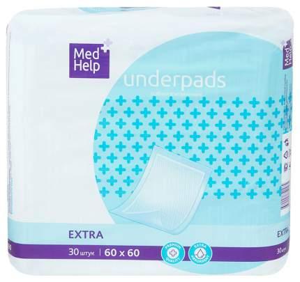 Пеленки для взрослых MedHelp Экстра впитывающие одноразовые 60 х 60 см 30 шт.